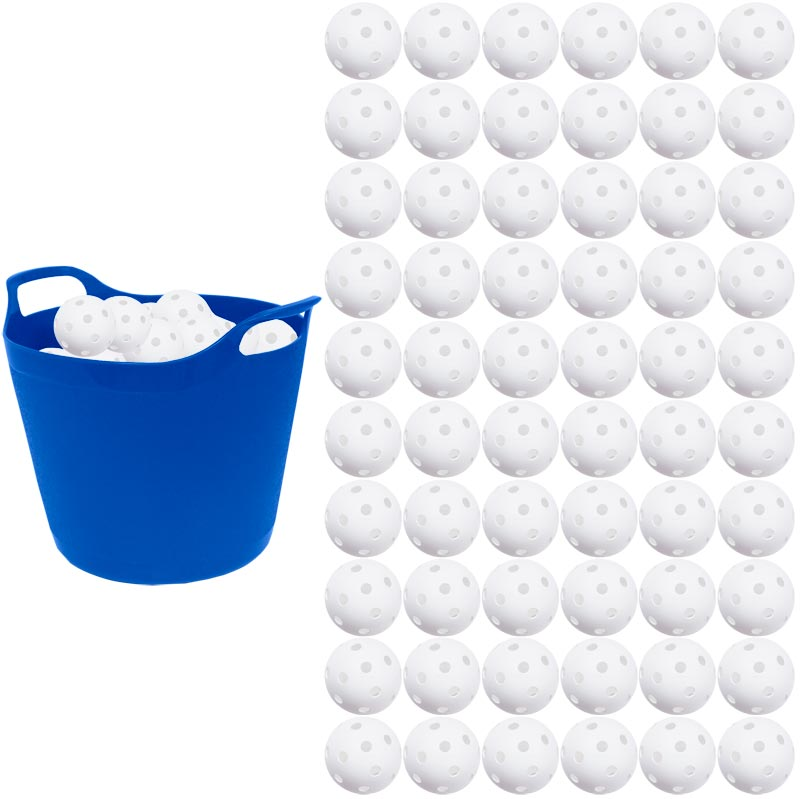Unihoc Floorball Perforated Ball White 60 Pack