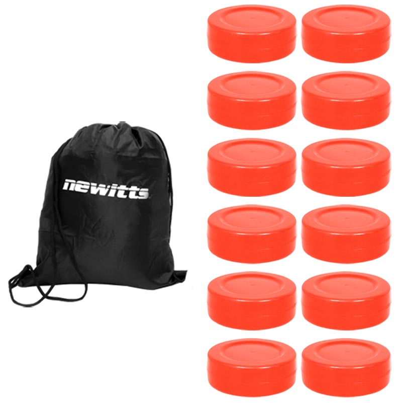 Unihoc PU Floorball Puck 12 Pack