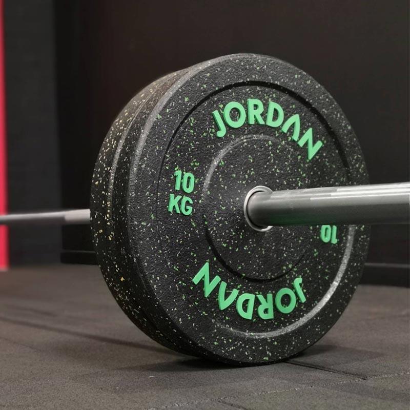 Jordan HG Black Rubber Bumper Plate - Coloured Fleck