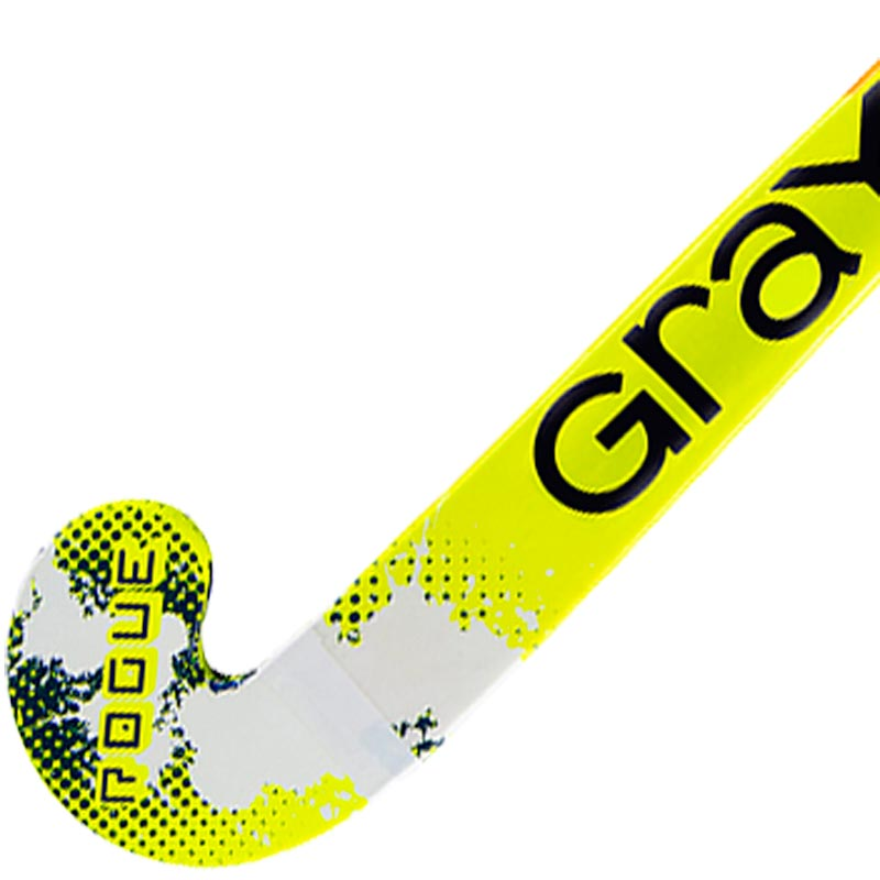 Grays Junior Rogue Ultrabow Hockey Stick Navy/Fluorecent Yellow