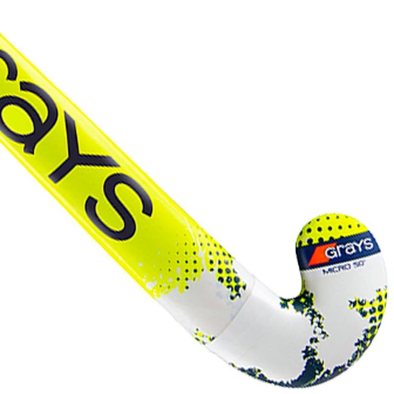 Grays Senior Rogue Ultrabow Hockey Stick Navy/Fluorescent Yellow