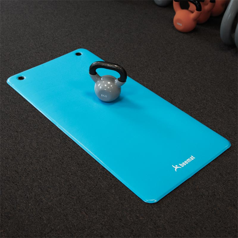 Beemat Vinyl Exercise Mat with Eyelets 100cm