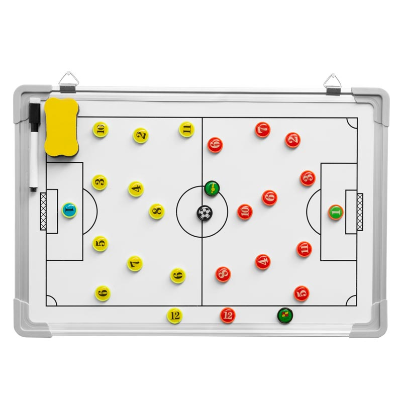 Ziland Football Reversible Magnetic Coaching Board 45cm x 30cm