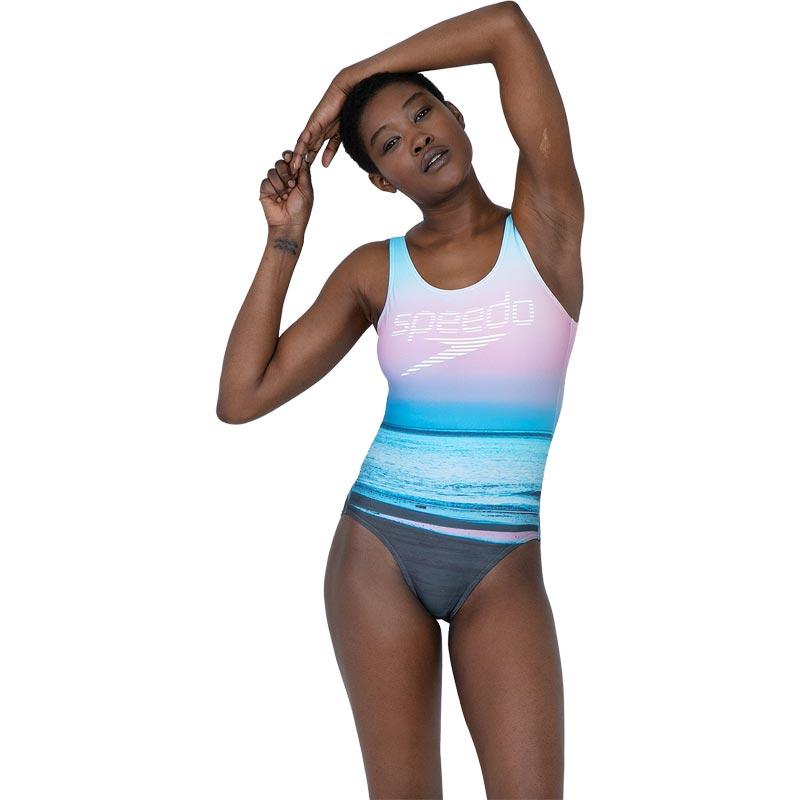 Speedo Digital Placement U Back Swimsuit