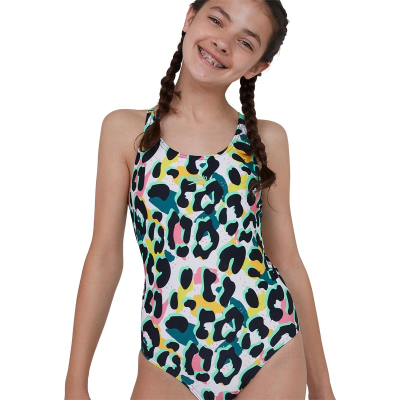 Speedo Junglespeak Allover Tieback Swimsuit