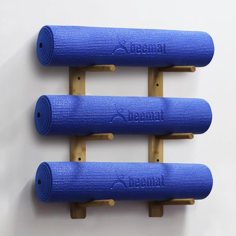 Beemat Bamboo Yoga Mat Wall Storage Rack