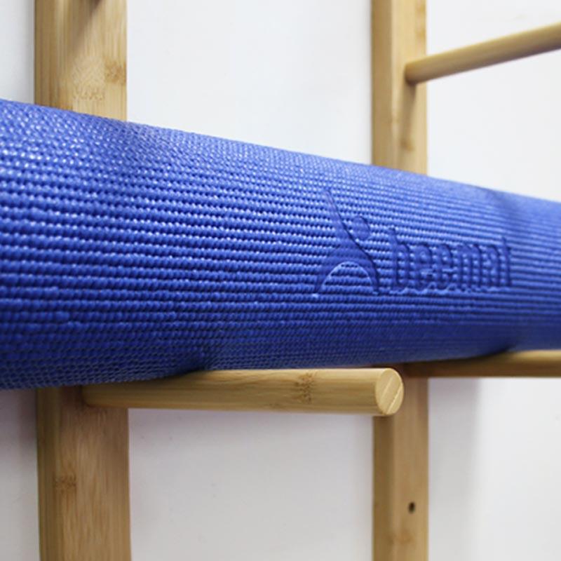 Beemat Bamboo Yoga Mat Wall Storage Rack