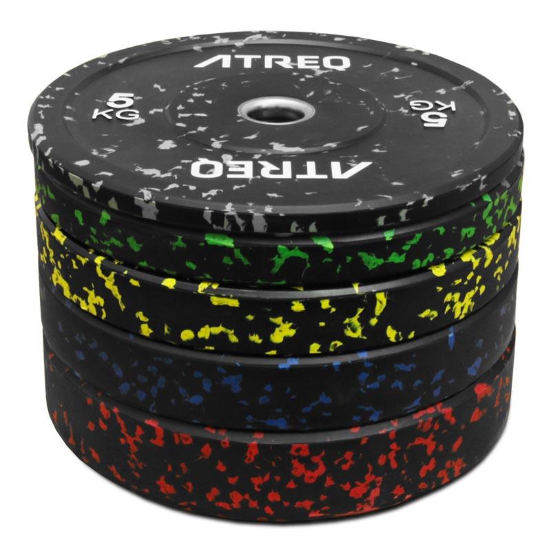ATREQ Speckle Olympic Rubber Bumper Plate