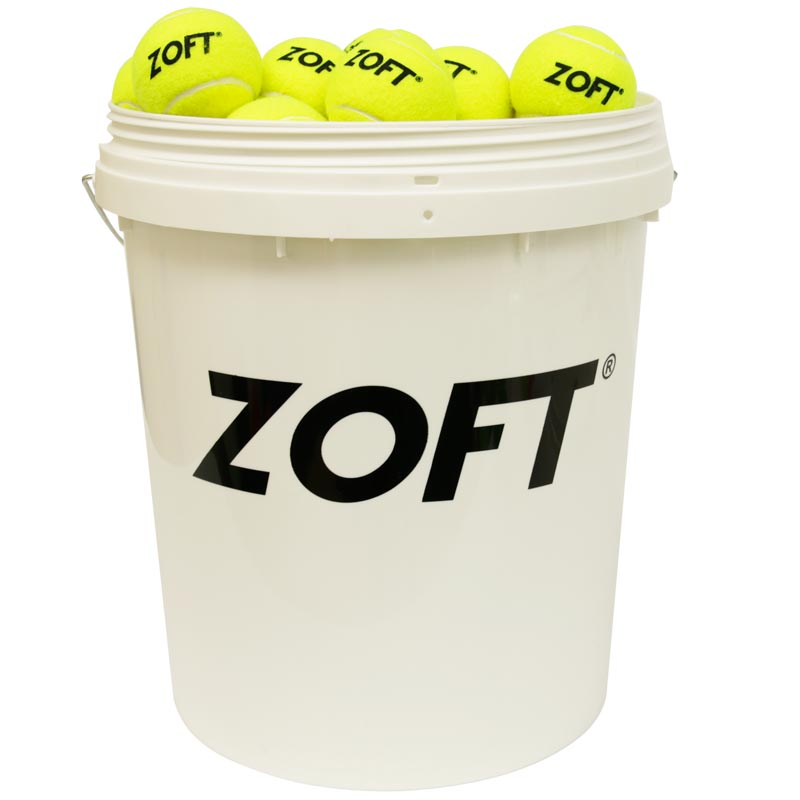 Zoft Coach Training Tennis Balls Bucket of 96