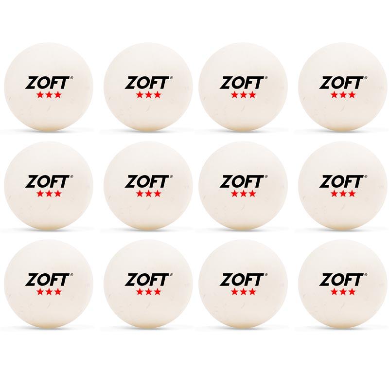 Zoft Table Tennis Ball 3 Star 12 Pack