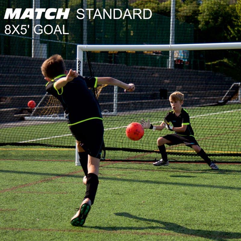 Quickplay Match Fold Football Goal 8ft x 5ft