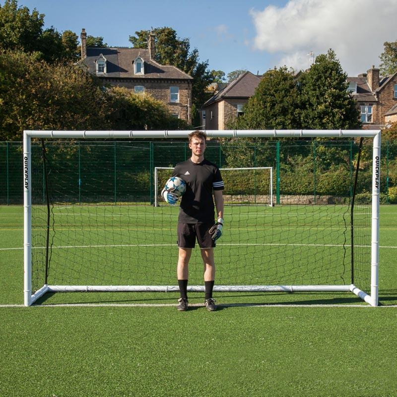 Quickplay 12ft x 6ft Match Fold Football Goal