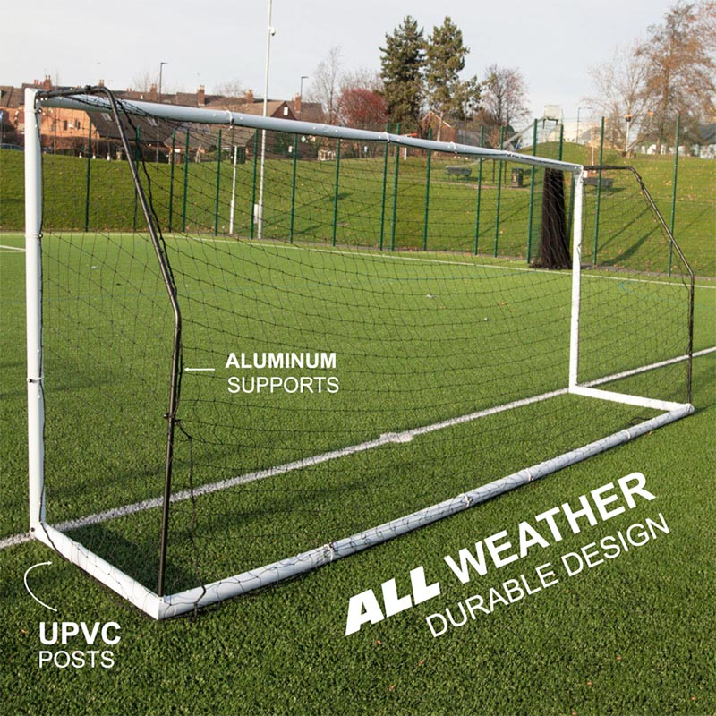 Quickplay Match Fold Football Goal 16ft x 7ft