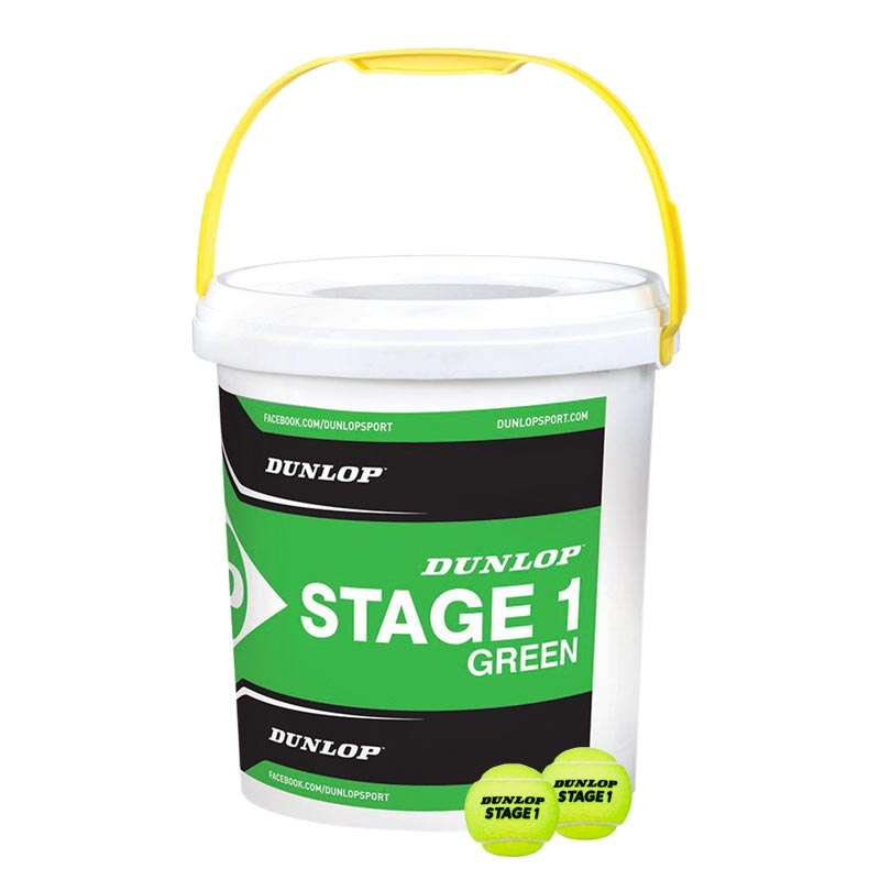 Dunlop Stage 1 Green Ball Bucket of 60