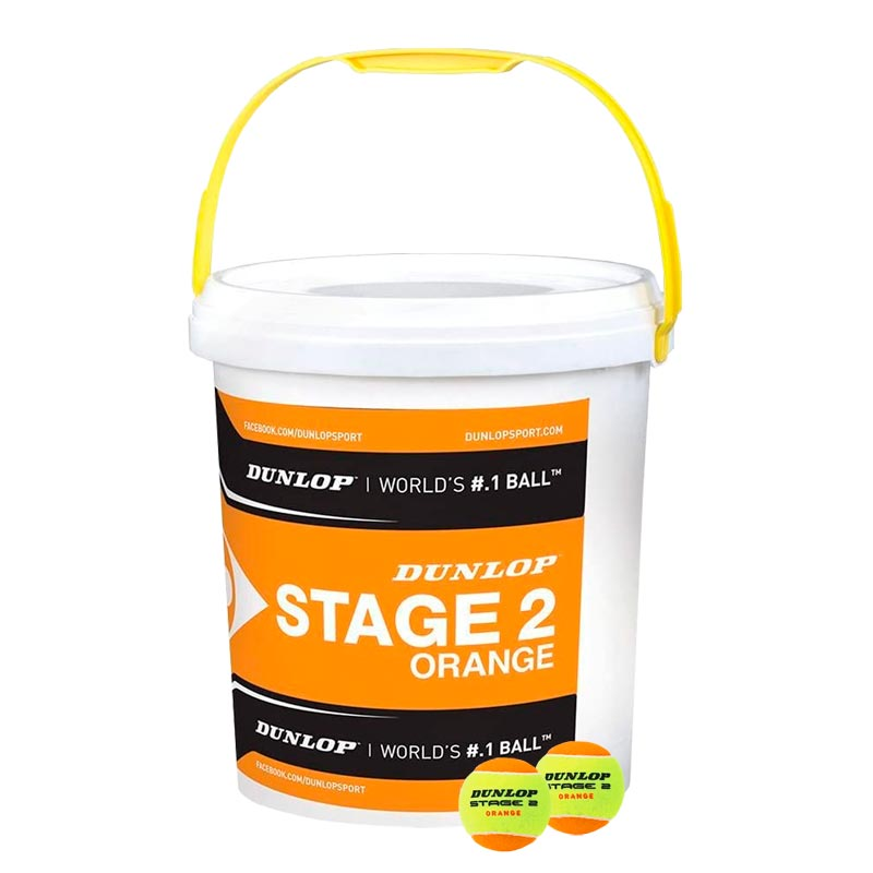 Dunlop Stage 2 Orange Ball Bucket of 60