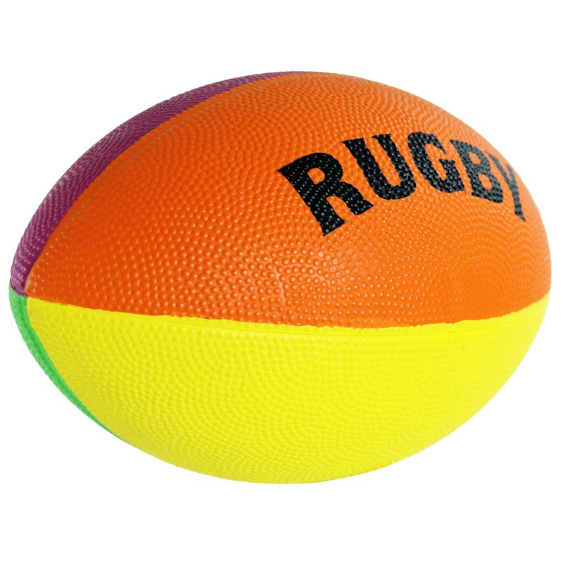First Play Mini Rainbow Rugby Ball