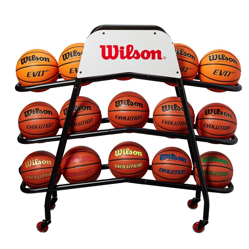 Wilson Deluxe Basketball Cart 15 Balls