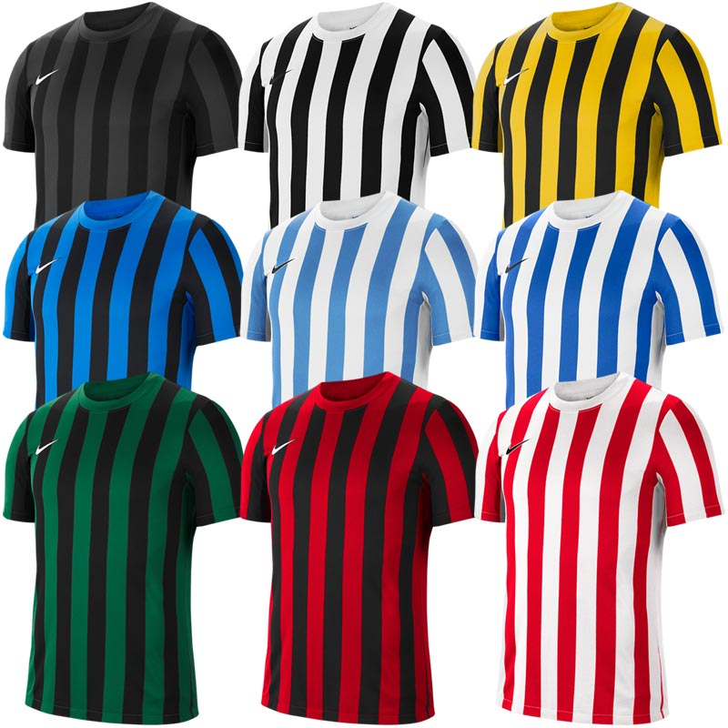 Nike Striped Division IV Jersey Short Sleeve Junior Football Shirt