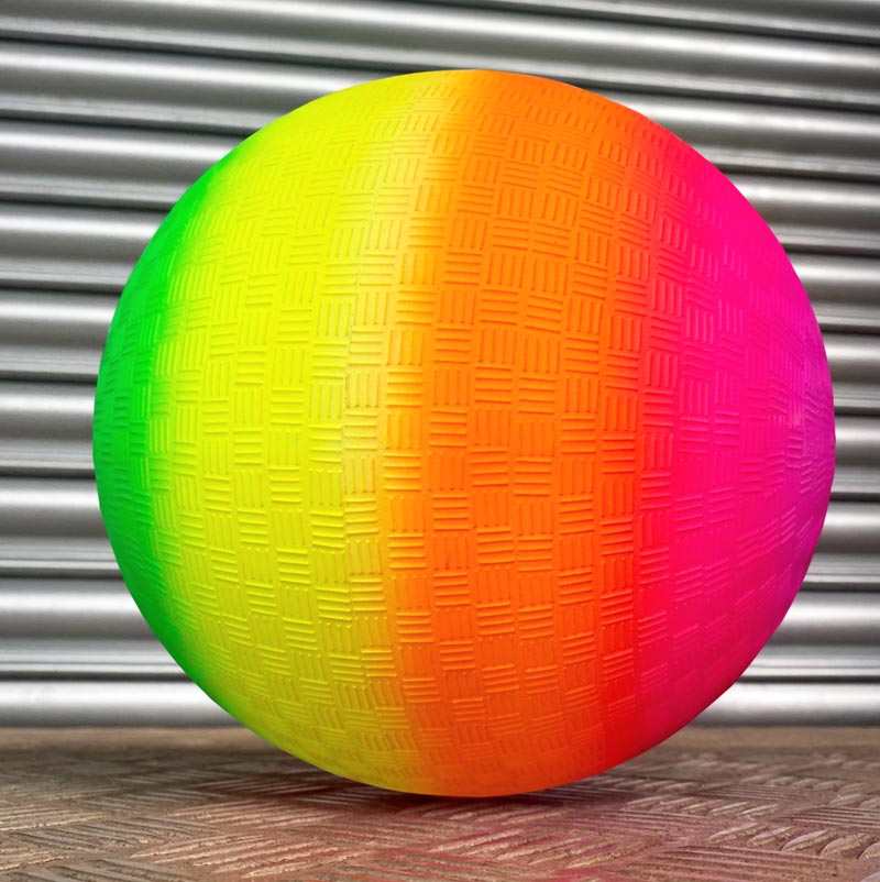 Urban Rainbow Neon Textured Play Ball
