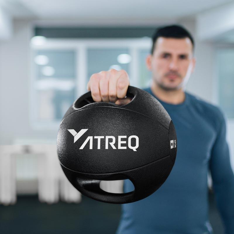 ATREQ Double Grip Medicine Ball