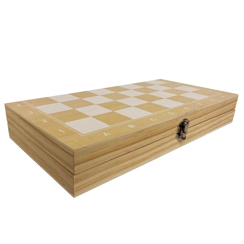 Foldable Wooden Chess Set