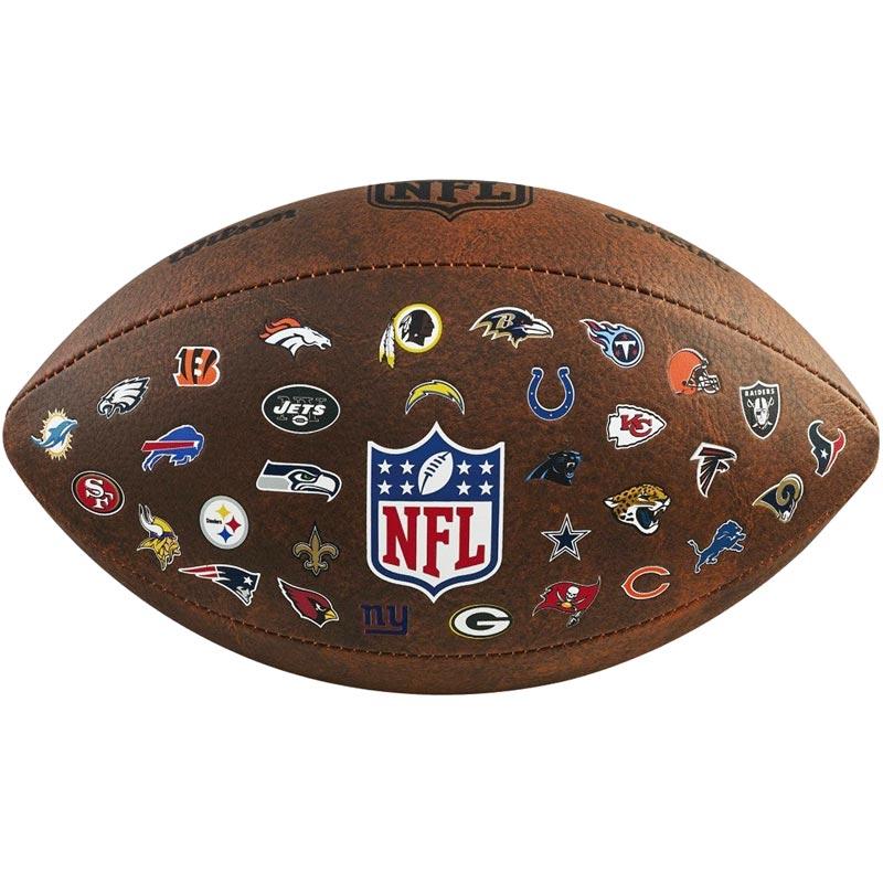 Wilson NFL 32 Team Throwback American Football