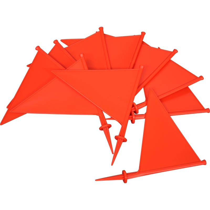 First Play Plastic Marking Flags Orange 10 Pack 21cm
