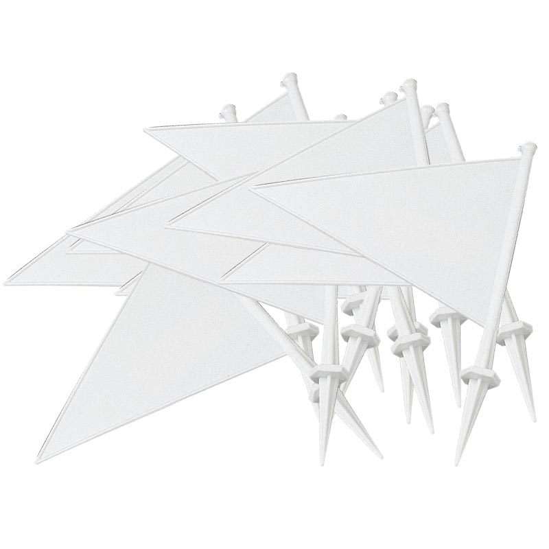 Plastic Marking Flags White 10 Pack