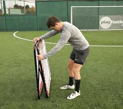 Ziland Football Pro Rebound Net Setup